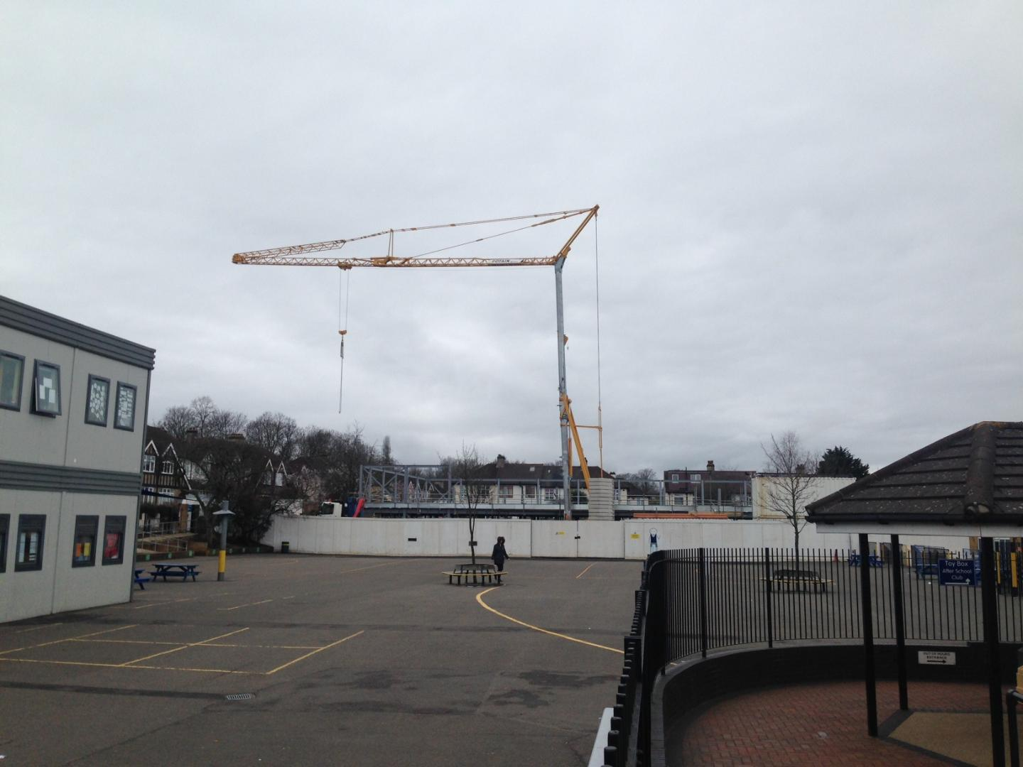 Week 7 - Tower crane erected